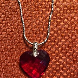 Brighton Red Crystal Heart Necklace